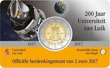 BELGIË 2017 - 2 € - 200 jaar/ans Universiteit van Luik/Liège in coincard - BU!