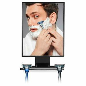 ToiletTree Products Deluxe Larger Fogless Shower Shaving Mirror with Squeegee, L