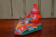 PLAYGO Space Car Tin Metal Toy ZV 288 Robot 1970's Popping Balls Vintage works