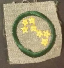 1928-1933 Girl Scout Badge STAR FINDER- GREY GREEN SQUARE