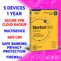 Norton 360 Deluxe 2021 Multidevice 5 devices 1 year, incl. VPN, Backup, SafeCam