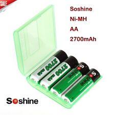 4pcs Soshine 3.2v Lifepo4 AA 14500 Rechargeable Battery Protected 700mah W/case