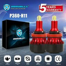 4-Sides 360° H11 H9 H8 LED Headlight Bulbs Kit 2000W 300000LM 6500K High Bright