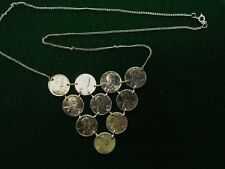 Silver Plated US Pennys made into a Necklace