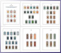 US Revenue R1-R734 Full Color Stamp Album Pages