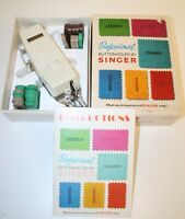 Vintage Singer Professional Buttonholer Slant Needle Zig Zag & Manual & Box