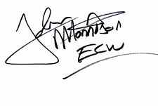 WWE ECW Wrestilng John Morrison signed card