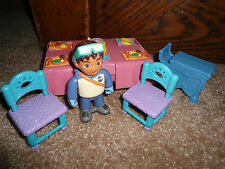 FISHER PRICE DORA THE EXPLORER DOLL DOLLHOUSE KITCHEN TABLE ROOM LOT