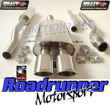 Milltek SSXM017 Mini Cooper S R58 Coupe Exhaust Cat Back Resonated Twin Oval TUV