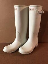 "Hunter Original Rain Boots Ladies US 9 UK 8 EU42 WHITE 17"" Tall"