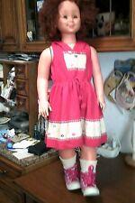 rara bambola gigante migliorati Luciana varietà rossa con difetti leggi.... 87cm