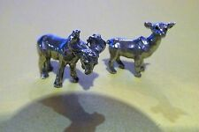 Pewter Bull Moose And Cow Moose Figurines