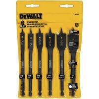 DEWALT 6 Pc Wood Boring Bit Set DW1587 New