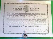 ANTIQUE SAINT JANE FRANCES DE CHANTAL 1ST CLASS RELIC .800 SILVER THECA 1953 COA