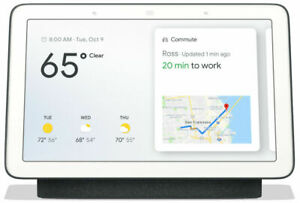 Google Home Nest Hub Smart Voice Assistant with Touch Screen - Charcoal
