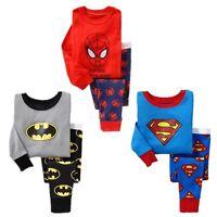Kids Baby Boy Clothes  Top Pants superhero Pajamas  Sleepwear Nightwear Pijamas