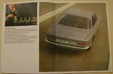 BMW 2000 CS & CA Coupe 1966-69 Original UK Sales Brochure Pub No 12320 e 5