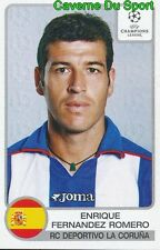 197 ENRIQUE ROMERO ESPANA RC.DEPORTIVO STICKER PANINI CHAMPIONS LEAGUE 2002