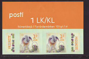 Finland 2016 MNH - Easter Bunny - top row of sheet with 2 stamps