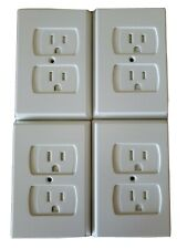 Sliding Electrical Outlet Covers Set of 4 Baby Proofing Child Safety White