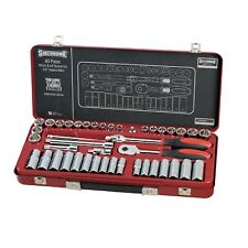 "Sidchrome 3/8"" METRIC & AF SOCKET SET SCMT13107 43Pcs Polished Chrome Vanadium"