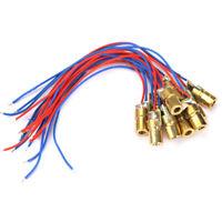 10pcs 650nm 6mm 3V 5mW Laser-Punkt Diode Modul-Kopf mit Red Dot v # h9 /Neu