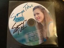 SONYA TITUS . NOW . SIGNED ( AUTOGRAPHED )   C.D. RARE mint , new condition