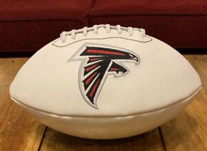 Atlanta Falcons Official NFL Autograph Signature Series White Panel Football