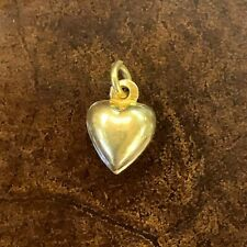 21K Yellow Gold Heart Pendant / Charm