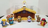 2002 FPLP FISHER PRICE LITTLE PEOPLE NATIVITY SET STABLE LOT - INCOMPLETE READ