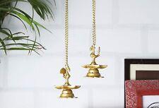 Brass Peacock Hanging Diya Set of 2