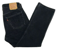 Vintage Levis 501 Made In USA Black Fade Denim Jeans Mens Tag 34x30 Actual 32x28