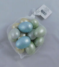 NEW Ashland Easter Decorative Eggs 14 Pieces Satin Metallic