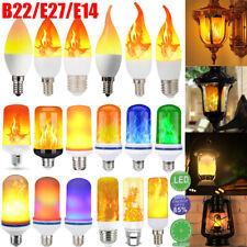 B22 E14 E27 LED Flicker Flame Lamp Bulb Burning Fire Effect Candle Bulb Light US