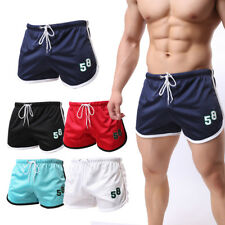Mens Sports Athletic Running Swimming Beach Shorts Doulbe Mesh Breathable Trunks