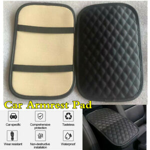 PU Leather Car Center Box Armrest Console Pad Cushion Cover Protector For Rest