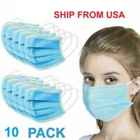 Face Mask (10 pcs) PROTECTIVE MASK (SHIP FROM USA)