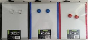 """Magnetic Dry Erase Whiteboard, 2  Magnets & Marker 8.5"""" x 11"""", Select: Trim Colo"""