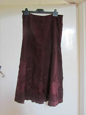 Wine Red Thin Corduroy Monsoon Maxi Skirt in Size 8