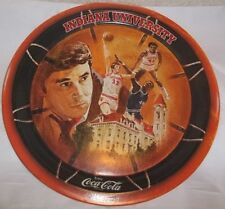 1976 Round Coke Tray NCAA National Champions Indiana University/Hoosiers/Nice