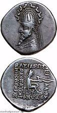 PARTHIAN KINGDOM SILVER DRACHM COIN SINATRUCES 77-70 BC