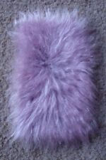 1:12 scale Soft Pink  Fur Rug for dolls house (very realistic)