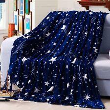 Micro Plush Fleece Flannel Blanket Super Soft Warm Solid Throw Rug Sofa Bedding