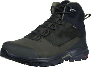 Salomon Men's Outward GTX Hiking Shoes Boots Peat/Black/Burnt Olive - SIZE 9.5