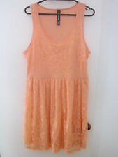 PRETTY  SALMON ,STRETCH LACE  DRESS, SIZE L [ 12]