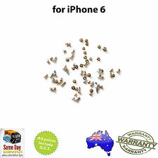 for iPHONE 6 - Full Set of Screws - with SILVER Pentalobe Screw