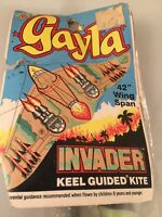 """Gayla Invader Keel Guided Kite 1986 NOS 42"""" Wing Span Made In USA"""