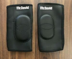 McDavid Protective Knee Pads Leg Sleeve Pair Black Large Basketball Sports Pad