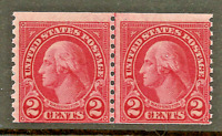Rare 1929 US #599A Mint-NH Type II ~ Coil Line Pair [Perf 10 Vertically]