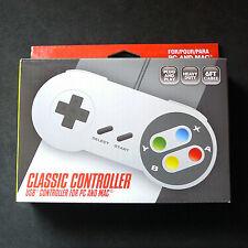 RetroLink SNES Super Nintendo Famicom PC Mac USB Controller Gamepad Color Button